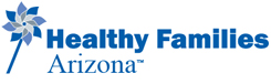 Healthy Families Arizona logo image of a pinwheel