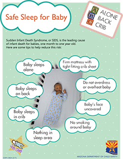 Safe sleep tips baby in a baby box